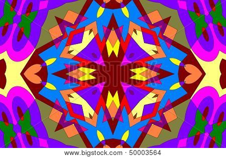 Abstraction geometric ornament