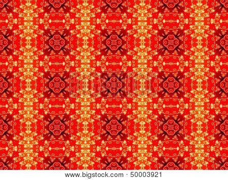 Seamless red geometric pattern
