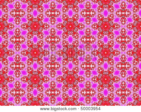 Pink fractal seamless wallpaper