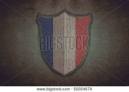 Shield With France Flag.