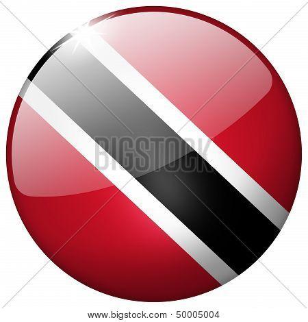 Trinidad And Tobago Round Glass Button