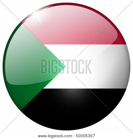 Sudan Round Glass Button