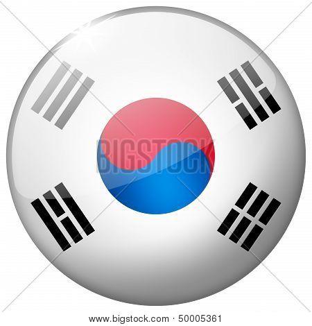 South Korea Round Glass Button