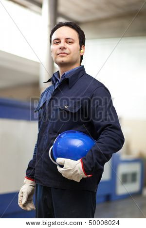 Young worker portrait