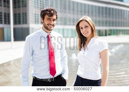 Business people in an urban environment