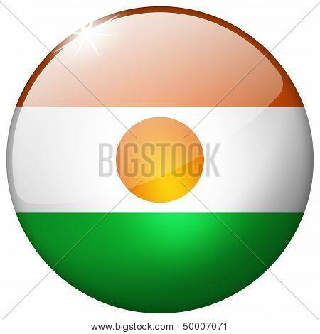 Niger Round Glass Button