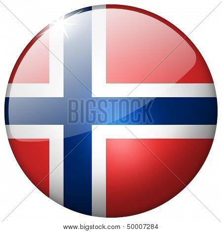 Norway Round Glass Button