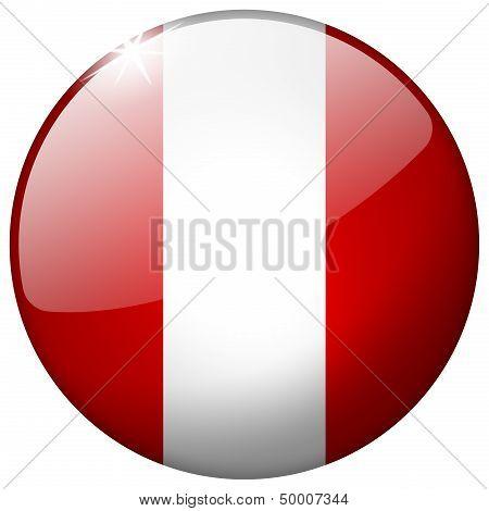Peru Round Glass Button