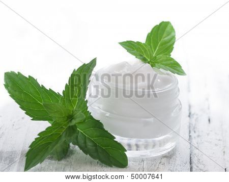 natural facial cream with mint