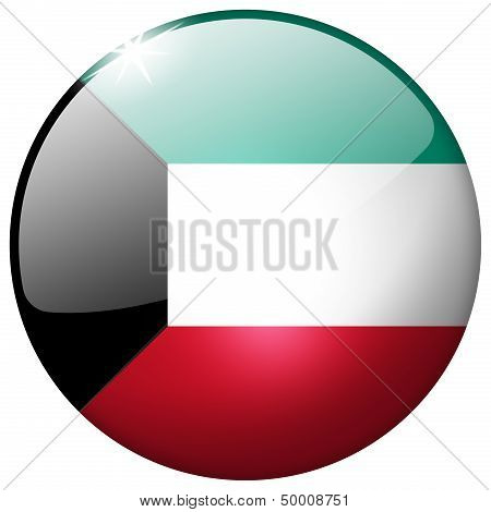 Kuwait Round Glass Button