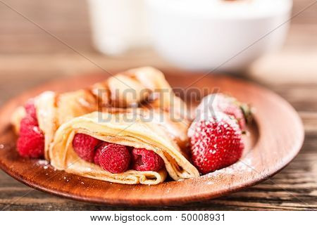Pancake With Fruits