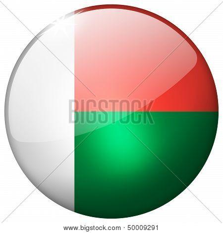 Madagascar Round Glass Button