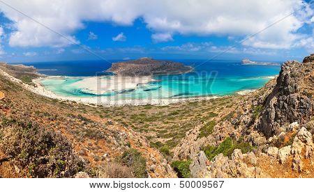 Panorama Of Balos Lagoon