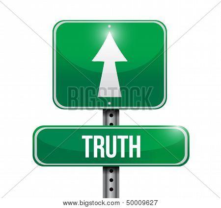 Truth Road Sign Illustration Design