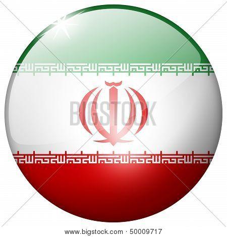 Iran Round Glass Button