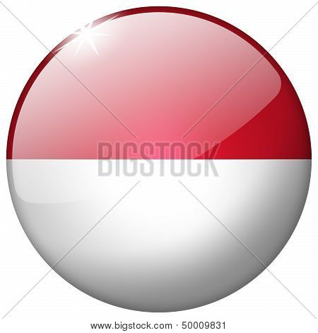 Indonesia Round Glass Button
