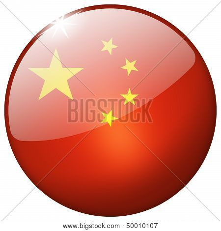 China Round Glass Button