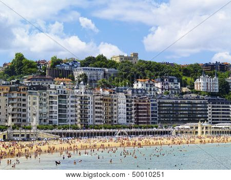 Beach In San Sebastian, Spain