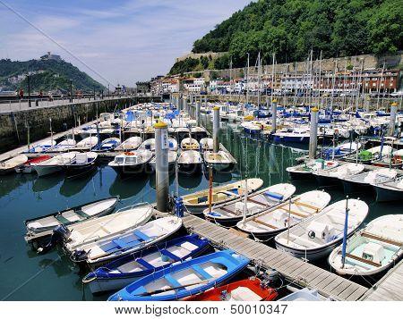 Harbor In San Sebastian, Spain