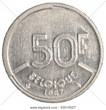 50 Belgian Franc Coin