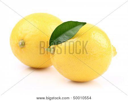 Lemons with leaf