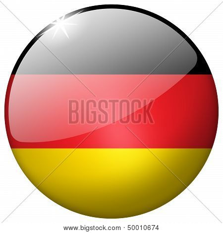 Germany Round Glass Button