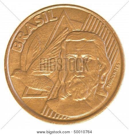 5 Brazilian Real Centavos Coin