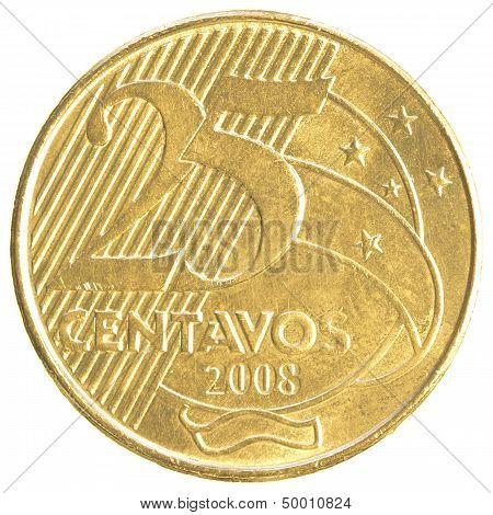 25 Brazilian Real Centavos Coin