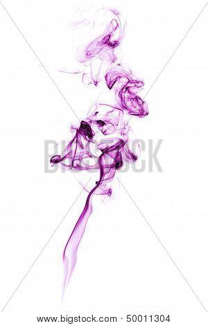 Purple Smoke Over White.