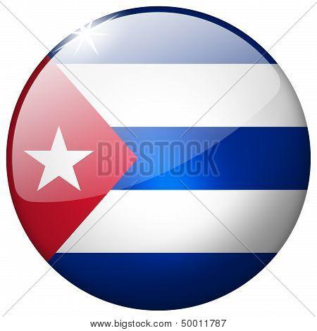 Cuba Round Glass Button