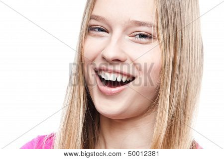 portrait of a beautiful smiling young woman