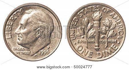 One American Dime Coin