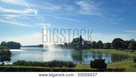 Lake Ada Ciganlija In Belgrade, Serbia
