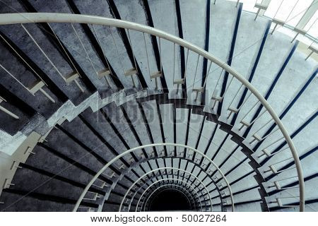 spiral staircase in modern building