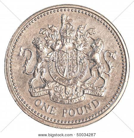 one british pound coin