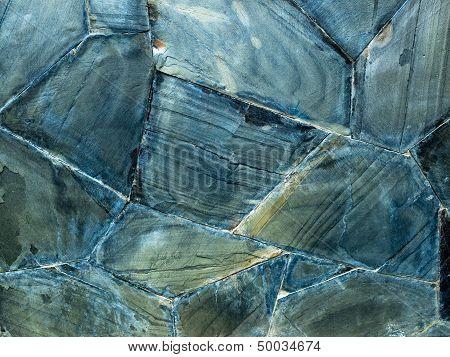 Texture Of Blue Grunge Rock Wall