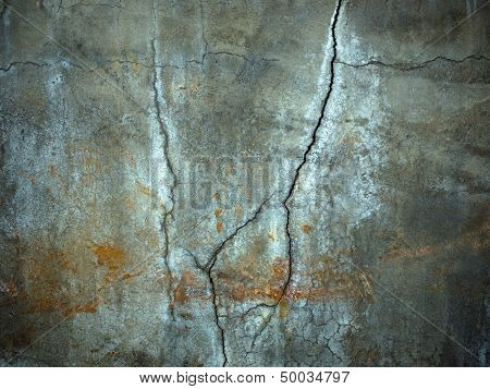 Texture Of Carck On Cement Wall