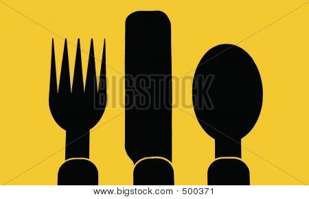 Abstract Silverware