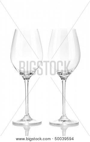 Wineglasses, isolated on white