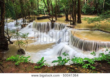 Waterfalls in the tropical rain forest
