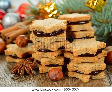 Christmas Cookies With Chocolate