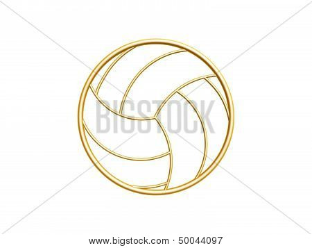 Golden Volleyball Symbol