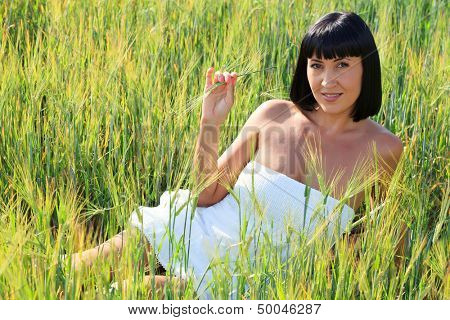 Woman in a grass