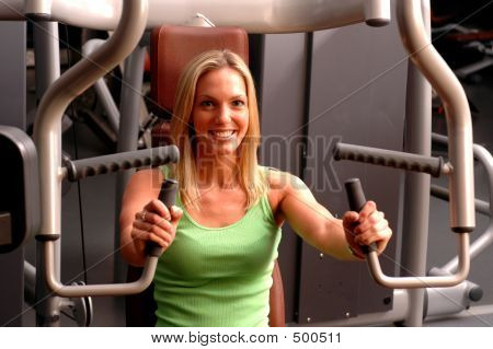 beautiful Woman in Fitness-Studio