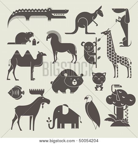 animals set