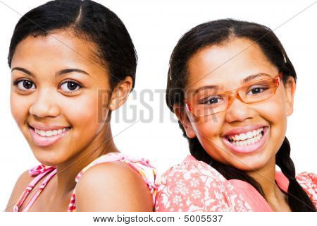 Close-up Of Two Teenage Girls