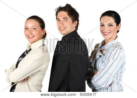 Group Of  Business People In Profile