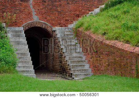 Underground passage way at Fort Clinch