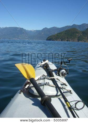 Kayak And Fishing Rod