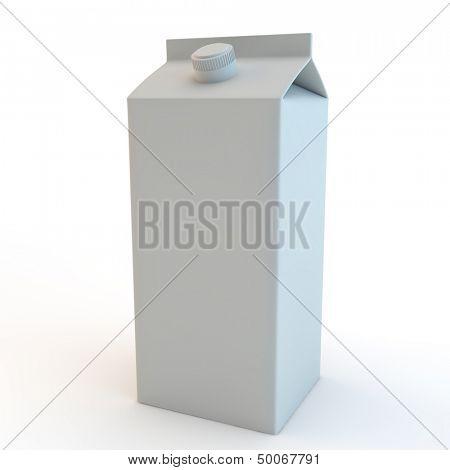 modern milk carton (tetrapak) with screw top lid